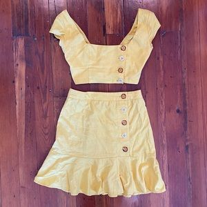Urban Outfitters Linen Lily Set